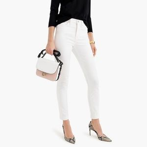 J. crew Toothpick Ankle white skinny Jeans